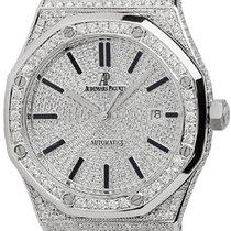 Audemars Piguet Royal Oak Full Diamond Set Custom Watch...