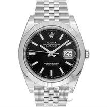 Rolex Datejust 41 Black/Steel 41mm Jubilee - 126300