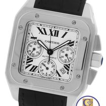 Cartier MINT Cartier Santos 100 XL Chronograph 2740 Leather...
