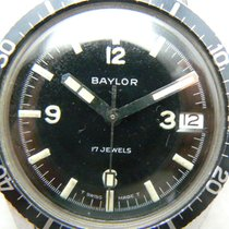 SWISS BAYLOR Baylor Diver's 600 Date With Fancy Black Dial...