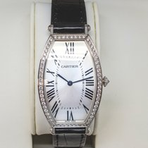Cartier Tonneau Oro blanco 39mm Plata Romanos