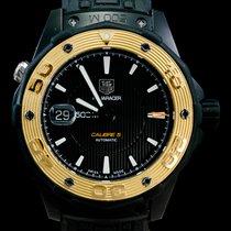 TAG Heuer Titanium Automatic Black No numerals 43mm pre-owned Aquaracer 500M