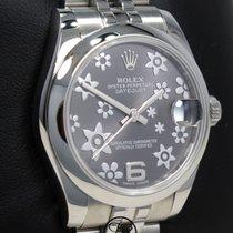 Rolex Сталь Автоподзавод Cерый 31mm подержанные Lady-Datejust
