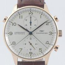 IWC Portugieser Chronograph gebraucht 41mm Silber Chronograph Doppelchronograph Dornschließe