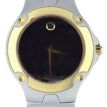 Movado Sports Edition Goud/Staal 37mm Zwart