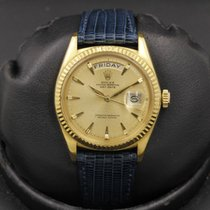Rolex Yellow gold Champagne No numerals 36mm pre-owned Day-Date 36