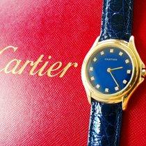 Cartier Cougar Gelbgold 35mm Blau Keine Ziffern Deutschland, Bad Endorf