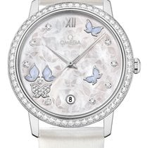 Omega White gold Automatic Mother of pearl 36.8mm new De Ville Prestige