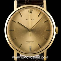 Rolex 18k Yellow Gold Champagne Baton Dial Precision Vintage 9708