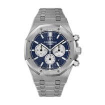 Audemars Piguet Royal Oak Chronograph pre-owned 41mm Blue Chronograph Date Steel