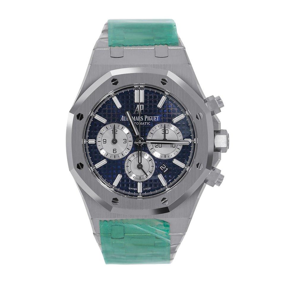 Audemars Piguet Royal Oak Chronograph Steel Blue Watch 26331st Oo 1220st 01