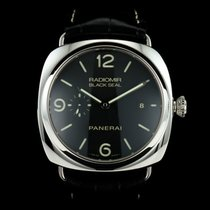 Panerai Radiomir Black Seal 3 Days Automatic Staal 45mm Zwart Arabisch