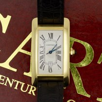 Cartier TANK AMERICAINE 18K YELLOW GOLD WATCH 1 AUTOMATIC 725...