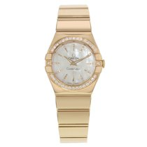 Omega Constellation 123.55.27.60.55.006 MOP 18k Rose Gold Quartz