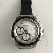 Glashütte Original Sport Evolution Chronograph Stahl 42mm Silber