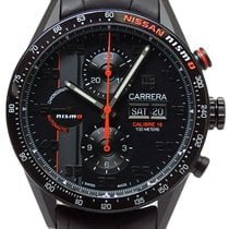 TAG Heuer Chronographe 43mm Remontage automatique occasion Carrera Calibre 16 Noir