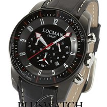Locman Aviatore Steel 44mm Black Arabic numerals