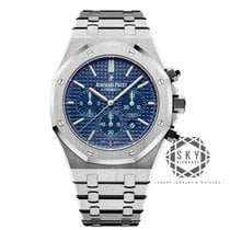 Audemars Piguet Royal Oak Chronograph Ocel 41mm Modrá Bez čísel