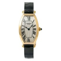 Cartier Tonneau Yellow gold 22mm Silver Roman numerals United States of America, New York, New York