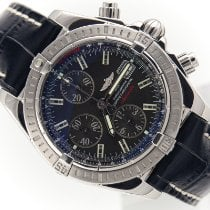 Breitling Chronomat Evolution Steel 44mm Black No numerals
