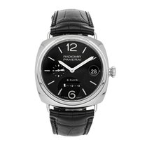 Panerai Radiomir 8 Days Stal 45mm Czarny Arabskie