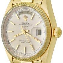 Rolex Day-Date 36 Oro amarillo 35mm Plata Sin cifras