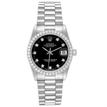 Rolex Lady-Datejust Oro blanco 31mm Negro