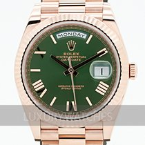 Rolex Day-Date 40 usados 40mm Verde Oro rosa