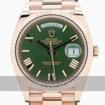 Rolex Day-Date 40 Or rose 40mm Vert