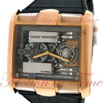 Harry Winston new Manual winding Skeletonized Display back Limited Edition 49mm Rose gold Sapphire crystal
