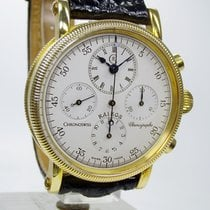 Chronoswiss Kairos Yellow gold 38mm Silver No numerals