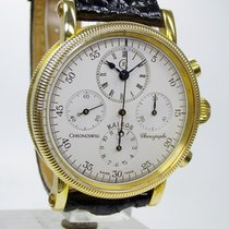 Chronoswiss Yellow gold Manual winding Silver No numerals 38mm new Kairos