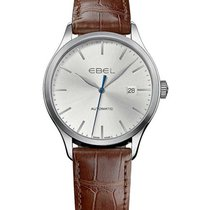 Ebel 1216088 Classic Automatic in Steel - on Brown Leather...