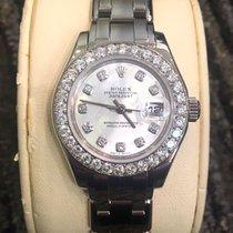 Rolex Ladies Masterpiece/Pearlmaster 18K White Gold/Diamonds/MOP