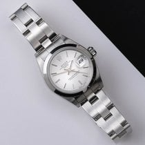 Rolex Oyster Perpetual Lady Date Сталь 26mm Cеребро