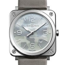 Bell & Ross Steel 39mm Quartz BRS-CAMO-ST new