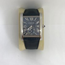 Cartier Tank MC Steel Blue Roman numerals