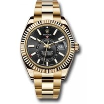 Rolex Yellow gold Automatic Black 41mm new Sky-Dweller