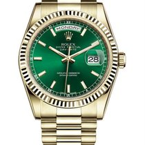 Rolex Day-Date 36 Yellow gold 36mm Green United States of America, New York, NY