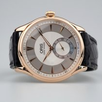 Oris Rose gold Manual winding Silver No numerals 40mm pre-owned Artelier Small Second