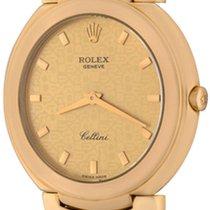 Rolex Cellini Zuto zlato 36mm Boja šampanjca Bez brojeva