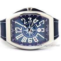 Franck Muller Steel Automatic Blue Arabic numerals 45mm new Vanguard