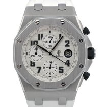 Audemars Piguet Royal Oak Offshore Chronograph Staal 42mm Wit Arabisch