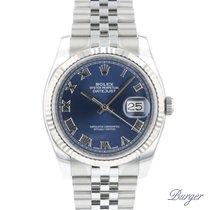 Rolex Datejust Or/Acier 36mm Bleu Romain