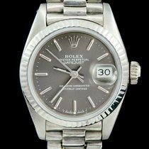 Rolex Witgoud Automatisch Zilver Geen cijfers 26mm tweedehands Lady-Datejust