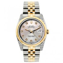 Rolex Datejust Ladies' 26mm Champagne Dial Yellow Gold And...