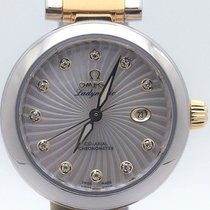 Omega Stainless Steel And Gold Deville Ladymatic With Diamond...