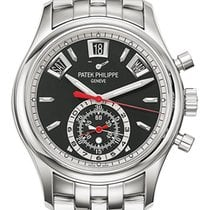 Patek Philippe Complications Steel Ebony Black Opaline Dial...