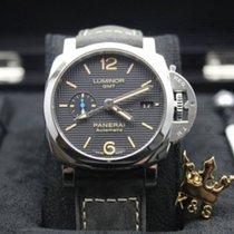 Panerai LUMINOR 1950 3 DAYS GMT Auto Reserve Steel Black PAM 1535