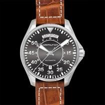 Hamilton H64615585 Acier Khaki Pilot Day Date 42mm nouveau